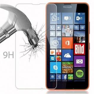 Cadorabo Panzer Folie für Nokia Lumia 640 - Schutzfolie in KRISTALL KLAR - Gehärtetes (Tempered) Display-Schutzglas in 9H Härte mit 3D Touch Kompatibilität - Vorschau 3
