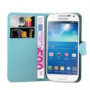 Cadorabo Hülle für Samsung Galaxy S4 MINI in PASTEL BLAU - Handyhülle mit Magnetverschluss, Standfunktion und Kartenfach - Case Cover Schutzhülle Etui Tasche Book Klapp Style - Vorschau 5