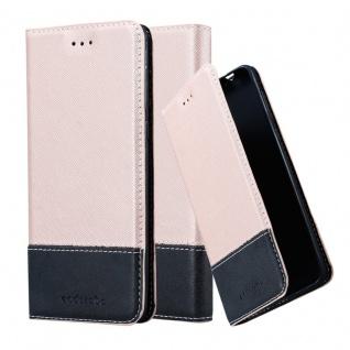 Cadorabo Hülle für Nokia 8 2017 in ROSÉ GOLD SCHWARZ ? Handyhülle mit Magnetverschluss, Standfunktion und Kartenfach ? Case Cover Schutzhülle Etui Tasche Book Klapp Style