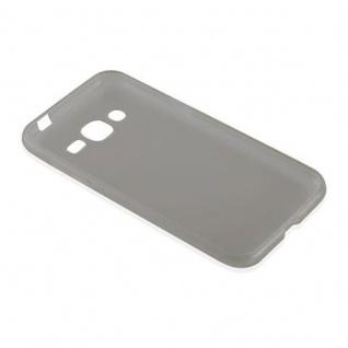Cadorabo Hülle für Samsung Galaxy J2 2015 in TRANSPARENT SCHWARZ - Handyhülle aus flexiblem TPU Silikon - Silikonhülle Schutzhülle Ultra Slim Soft Back Cover Case Bumper - Vorschau 3