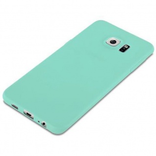 Cadorabo Hülle für Samsung Galaxy S6 EDGE in CANDY BLAU - Handyhülle aus flexiblem TPU Silikon - Silikonhülle Schutzhülle Ultra Slim Soft Back Cover Case Bumper - Vorschau 4