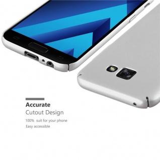 Cadorabo Hülle für Samsung Galaxy A5 2017 in METALL SILBER - Hardcase Handyhülle aus Plastik gegen Kratzer und Stöße - Schutzhülle Bumper Ultra Slim Back Case Hard Cover - Vorschau 3