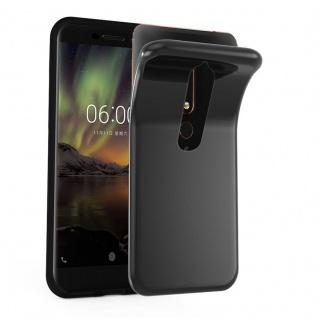 Cadorabo Hülle für Nokia 6.1 2018 in SCHWARZ - Handyhülle aus flexiblem TPU Silikon - Silikonhülle Schutzhülle Ultra Slim Soft Back Cover Case Bumper