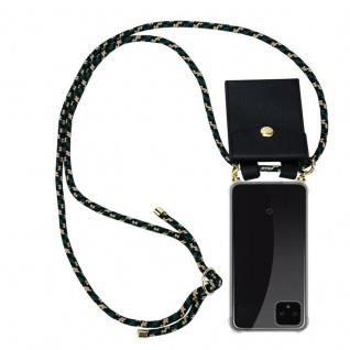 Cadorabo Handy Kette für Google Pixel 4 in CAMOUFLAGE - Silikon Necklace Umhänge Hülle mit Gold Ringen, Kordel Band Schnur und abnehmbarem Etui ? Schutzhülle