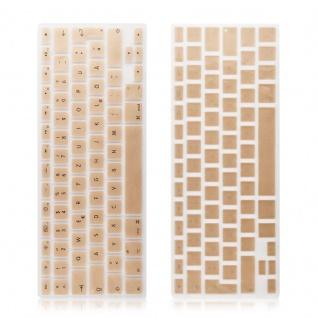 Cadorabo - Tastaturschutz in Silikon Tastenschutz für MacBook Pro 13, 15, 17 Air 13 Zoll u. weitere Apple Tastaturen - Kratzschutz Tastaturbelegung: SPANISCH in SAND-GOLD - Vorschau 4