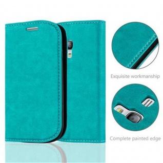 Cadorabo Hülle für Samsung Galaxy S3 MINI in PETROL TÜRKIS - Handyhülle mit Magnetverschluss, Standfunktion und Kartenfach - Case Cover Schutzhülle Etui Tasche Book Klapp Style - Vorschau 2