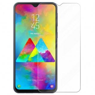 Cadorabo Panzer Folie für Samsung Galaxy M20 Schutzfolie in KRISTALL KLAR Gehärtetes (Tempered) Display-Schutzglas in 9H Härte mit 3D Touch Kompatibilität