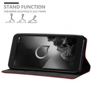 Cadorabo Hülle für Alcatel 1C 2019 in APFEL ROT Handyhülle mit Magnetverschluss, Standfunktion und Kartenfach Case Cover Schutzhülle Etui Tasche Book Klapp Style - Vorschau 2