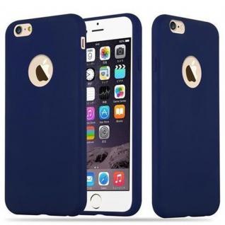 Cadorabo Hülle für Apple iPhone 6 PLUS / iPhone 6S PLUS - Hülle in CANDY DUNKEL BLAU ? Handyhülle aus TPU Silikon im Candy Design - Ultra Slim Soft Backcover Case Bumper