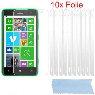 Cadorabo Displayschutzfolien für Nokia Lumia 625 - Schutzfolien in HIGH CLEAR ? 10 Stück hochtransparenter Schutzfolien gegen Staub, Schmutz und Kratzer