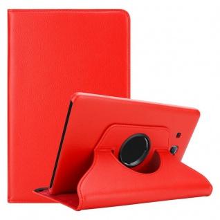 """"""" Cadorabo Tablet Hülle für Samsung Galaxy Tab A 2016 (7, 0"""" Zoll) SM-T280N in MOHN ROT ? Book Style Schutzhülle OHNE Auto Wake Up mit Standfunktion und Gummiband Verschluss"""""""