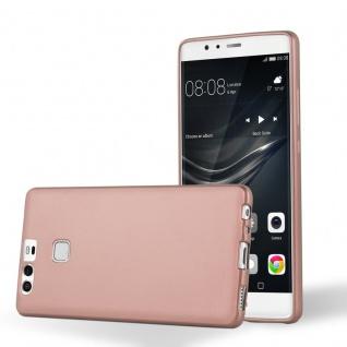 Cadorabo Hülle für Huawei P9 in METALLIC ROSE GOLD - Handyhülle aus flexiblem TPU Silikon - Silikonhülle Schutzhülle Ultra Slim Soft Back Cover Case Bumper