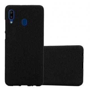 Cadorabo Hülle für Samsung Galaxy A20e in FROST SCHWARZ - Handyhülle aus flexiblem TPU Silikon - Silikonhülle Schutzhülle Ultra Slim Soft Back Cover Case Bumper