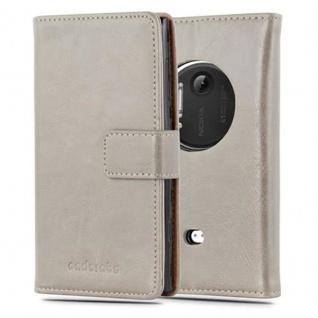 Cadorabo Hülle für Nokia Lumia 1020 in CAPPUCCINO BRAUN ? Handyhülle mit Magnetverschluss, Standfunktion und Kartenfach ? Case Cover Schutzhülle Etui Tasche Book Klapp Style