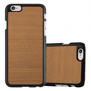 Cadorabo Hülle für Apple iPhone 6 PLUS / iPhone 6S PLUS in WOODY BRAUN - Hardcase Handyhülle aus Plastik gegen Kratzer und Stöße - Schutzhülle Bumper Ultra Slim Back Case Hard Cover