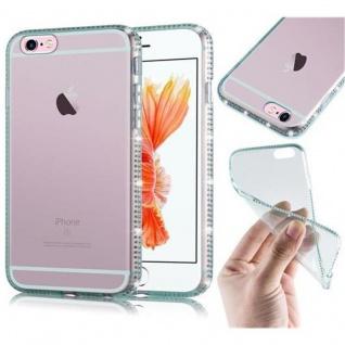 Cadorabo Hülle für Apple iPhone 6 / iPhone 6S - Hülle in TRANSPARENT GRÜN ? Handyhülle aus TPU Silikon im Strass Design - Ultra Slim Soft Backcover Case Bumper
