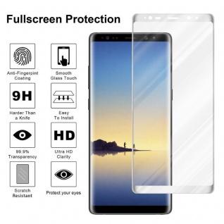 Cadorabo Vollbild Panzer Folie für Samsung Galaxy NOTE 8 - Schutzfolie in TRANSPARENT mit WEISS - Gehärtetes (Tempered) Display-Schutzglas in 9H Härte mit 3D Touch Kompatibilität - Vorschau 4