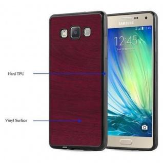 Cadorabo Hülle für Samsung Galaxy A5 2015 in WOODEN ROT - Handyhülle aus flexiblem TPU Silikon - Silikonhülle Schutzhülle Ultra Slim Soft Back Cover Case Bumper - Vorschau 4