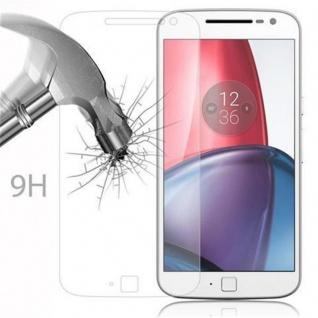 Cadorabo - Gehärtetes (Tempered) Glas Panzerglas Schutzfolie Displayschutzfolie für Lenovo (Motorola) MOTO G4 PLUS Display Schutzglas 0, 3mm abgerundete Kanten ? HOCH-TRANSPARENT - Vorschau 3
