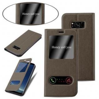 Cadorabo Hülle für Samsung Galaxy S8 PLUS in STEIN BRAUN ? Handyhülle mit Magnetverschluss, Standfunktion und 2 Sichtfenstern ? Case Cover Schutzhülle Etui Tasche Book Klapp Style - Vorschau 4