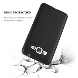 Cadorabo Hülle für Samsung Galaxy GRAND PRIME in METALLIC SCHWARZ - Handyhülle aus flexiblem TPU Silikon - Silikonhülle Schutzhülle Ultra Slim Soft Back Cover Case Bumper - Vorschau 3