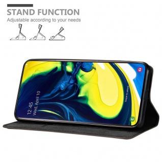 Cadorabo Hülle für Samsung Galaxy A80 / A90 in KAFFEE BRAUN - Handyhülle mit Magnetverschluss, Standfunktion und Kartenfach - Case Cover Schutzhülle Etui Tasche Book Klapp Style - Vorschau 4