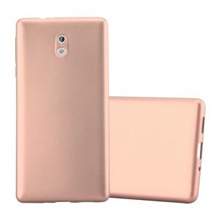 Cadorabo Hülle für Nokia 3 2017 in METALLIC ROSE GOLD - Handyhülle aus flexiblem TPU Silikon - Silikonhülle Schutzhülle Ultra Slim Soft Back Cover Case Bumper