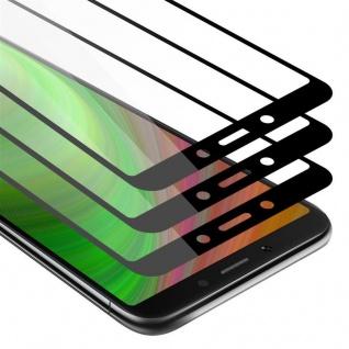 Cadorabo 3x Vollbild Panzer Folie für Xiaomi RedMi 6A - Schutzfolie in TRANSPARENT mit SCHWARZ - 3er Pack Gehärtetes (Tempered) Display-Schutzglas in 9H Härte mit 3D Touch