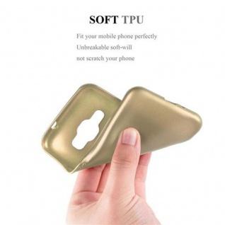 Cadorabo Hülle für Samsung Galaxy J1 2016 in METALLIC GOLD - Handyhülle aus flexiblem TPU Silikon - Silikonhülle Schutzhülle Ultra Slim Soft Back Cover Case Bumper - Vorschau 5