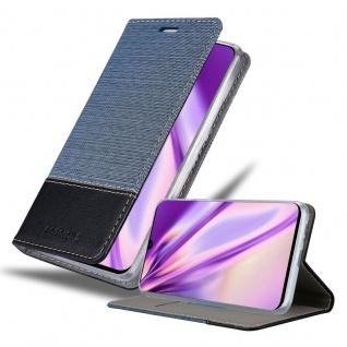 Cadorabo Hülle für Samsung Galaxy A90 5G in DUNKEL BLAU SCHWARZ Handyhülle mit Magnetverschluss, Standfunktion und Kartenfach Case Cover Schutzhülle Etui Tasche Book Klapp Style