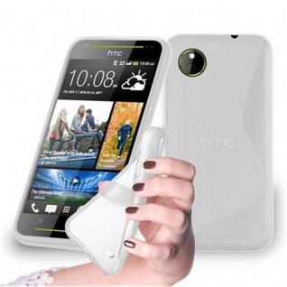 Cadorabo Hülle für HTC Desire 700 in HALB TRANSPARENT ? Handyhülle aus flexiblem TPU Silikon ? Silikonhülle Schutzhülle Ultra Slim Soft Back Cover Case Bumper