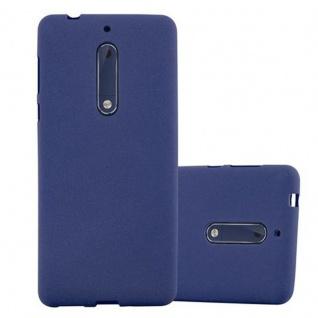 Cadorabo Hülle für Nokia 5 2017 in FROST DUNKEL BLAU - Handyhülle aus flexiblem TPU Silikon - Silikonhülle Schutzhülle Ultra Slim Soft Back Cover Case Bumper