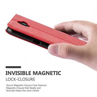 Cadorabo Hülle für WIKO WIM in APFEL ROT Handyhülle mit Magnetverschluss, Standfunktion und Kartenfach Case Cover Schutzhülle Etui Tasche Book Klapp Style - Vorschau 4