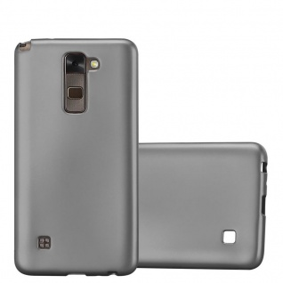 Cadorabo Hülle für LG Stylus 2 in METALLIC GRAU - Handyhülle aus flexiblem TPU Silikon - Silikonhülle Schutzhülle Ultra Slim Soft Back Cover Case Bumper