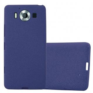 Cadorabo Hülle für Nokia Lumia 950 in FROST DUNKEL BLAU - Handyhülle aus flexiblem TPU Silikon - Silikonhülle Schutzhülle Ultra Slim Soft Back Cover Case Bumper