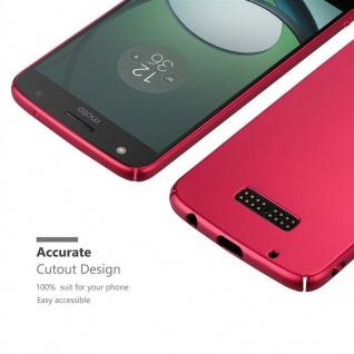 Cadorabo Hülle für Motorola MOTO Z PLAY in METALL ROT ? Hardcase Handyhülle aus Plastik gegen Kratzer und Stöße ? Schutzhülle Bumper Ultra Slim Back Case Hard Cover - Vorschau 5