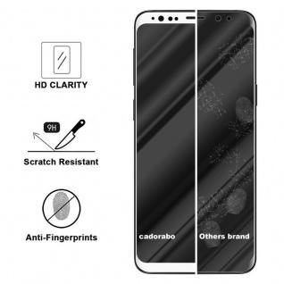 Cadorabo Vollbild Panzer Folie für Samsung Galaxy S9 - Schutzfolie in TRANSPARENT mit WEISS - Gehärtetes (Tempered) Display-Schutzglas in 9H Härte mit 3D Touch Kompatibilität - Vorschau 3
