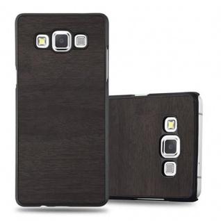 Cadorabo Hülle für Samsung Galaxy A3 2015 in WOODY SCHWARZ - Hardcase Handyhülle aus Plastik gegen Kratzer und Stöße - Schutzhülle Bumper Ultra Slim Back Case Hard Cover