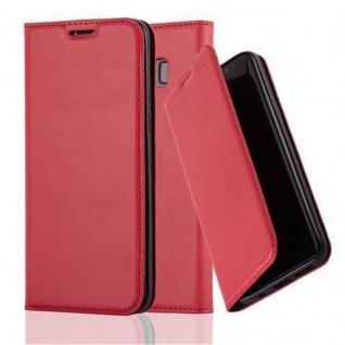 Cadorabo Hülle für Samsung Galaxy S8 in APFEL ROT - Handyhülle mit Magnetverschluss, Standfunktion und Kartenfach - Case Cover Schutzhülle Etui Tasche Book Klapp Style