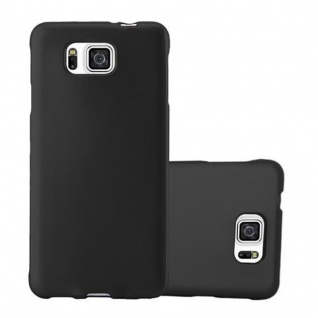Cadorabo Hülle für Samsung Galaxy ALPHA in METALLIC SCHWARZ - Handyhülle aus flexiblem TPU Silikon - Silikonhülle Schutzhülle Ultra Slim Soft Back Cover Case Bumper