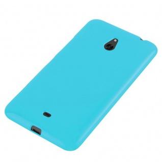 Cadorabo Hülle für Nokia Lumia 1320 in JELLY HELL BLAU - Handyhülle aus flexiblem TPU Silikon - Silikonhülle Schutzhülle Ultra Slim Soft Back Cover Case Bumper - Vorschau 3