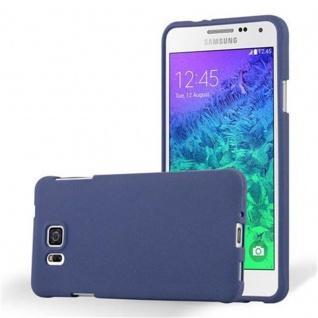 Cadorabo Hülle für Samsung Galaxy ALPHA in FROST DUNKEL BLAU - Handyhülle aus flexiblem TPU Silikon - Silikonhülle Schutzhülle Ultra Slim Soft Back Cover Case Bumper