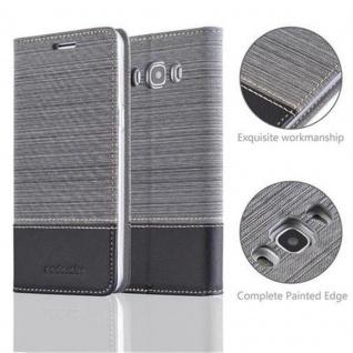Cadorabo Hülle für Samsung Galaxy J5 2016 in GRAU SCHWARZ - Handyhülle mit Magnetverschluss, Standfunktion und Kartenfach - Case Cover Schutzhülle Etui Tasche Book Klapp Style - Vorschau 2