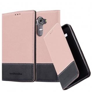 Cadorabo Hülle für LG G4 / G4 PLUS in GOLD SCHWARZ - Handyhülle mit Magnetverschluss, Standfunktion und Kartenfach - Case Cover Schutzhülle Etui Tasche Book Klapp Style