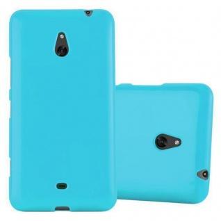 Cadorabo Hülle für Nokia Lumia 1320 in JELLY HELL BLAU - Handyhülle aus flexiblem TPU Silikon - Silikonhülle Schutzhülle Ultra Slim Soft Back Cover Case Bumper