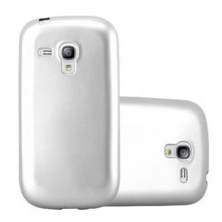 Cadorabo Hülle für Samsung Galaxy S3 MINI in METALLIC SILBER - Handyhülle aus flexiblem TPU Silikon - Silikonhülle Schutzhülle Ultra Slim Soft Back Cover Case Bumper