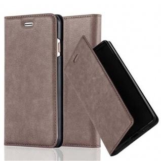 Cadorabo Hülle für Apple iPhone 6 PLUS / iPhone 6S PLUS in KAFFEE BRAUN - Handyhülle mit Magnetverschluss, Standfunktion und Kartenfach - Case Cover Schutzhülle Etui Tasche Book Klapp Style