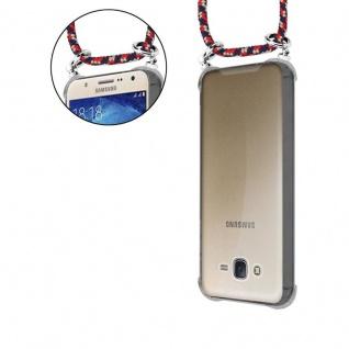 Cadorabo Handy Kette für Samsung Galaxy J7 2015 in ROT BLAU GELB - Silikon Necklace Umhänge Hülle mit Silber Ringen, Kordel Band Schnur und abnehmbarem Etui - Schutzhülle - Vorschau 5