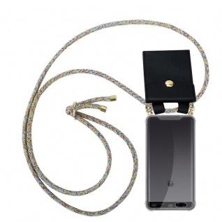 Cadorabo Handy Kette für Huawei P10 PLUS in RAINBOW - Silikon Necklace Umhänge Hülle mit Gold Ringen, Kordel Band Schnur und abnehmbarem Etui ? Schutzhülle