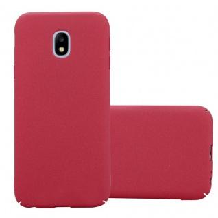 Cadorabo Hülle für Samsung Galaxy J7 2017 in FROSTY ROT - Hardcase Handyhülle aus Plastik gegen Kratzer und Stöße - Schutzhülle Bumper Ultra Slim Back Case Hard Cover
